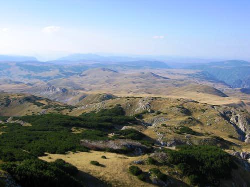 View  to Piva mountain...