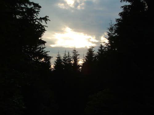 Sunset on the Bükk-uplands