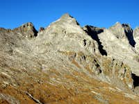 Pizzo Porcellizzo seen from Passo del Barbacan.