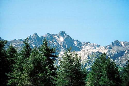Monte d'Oro (2389m) seen from...
