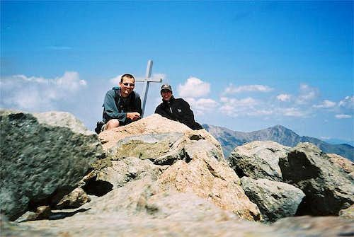 On the summit of Monte d'Oro,...