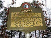 Historical Marker at Dug Gap