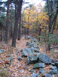 Another view of the stone wall at Dug Mountain