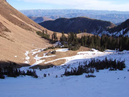 Basin below the summit
