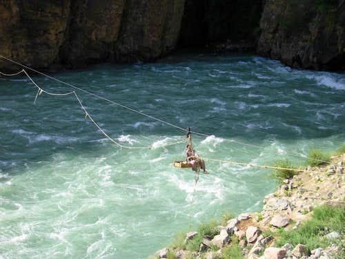 River Crossing in Baltistan