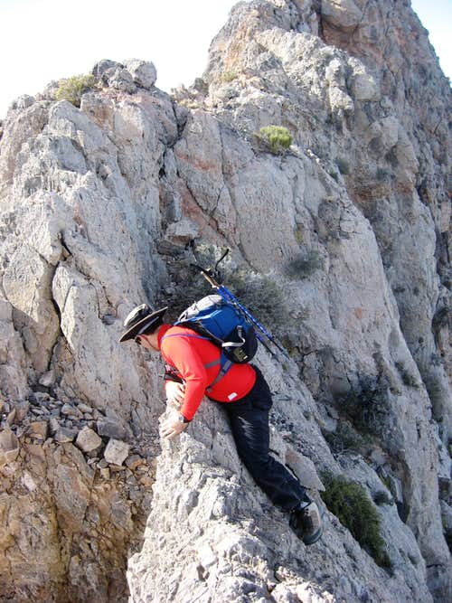 Myself on the knife edge