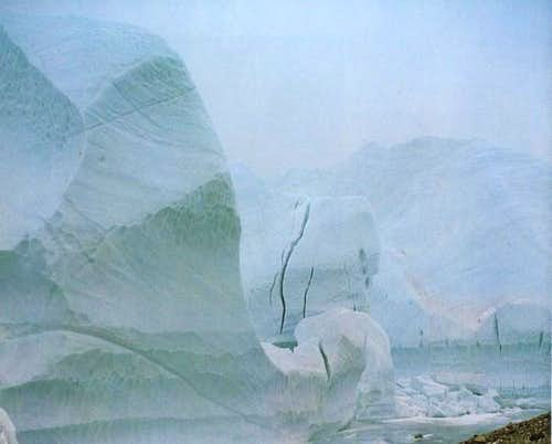 magnificent ice towers at the...