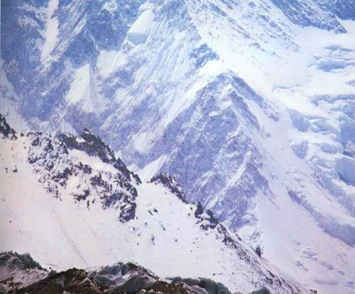 Lower Northwest ridge of K2,...
