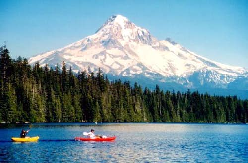 The famous view: Mount Hood...