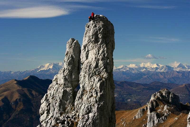 Father and son climb the Campaniletto
