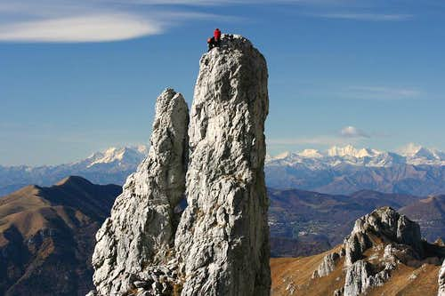 Father and son climb the Campaniletto