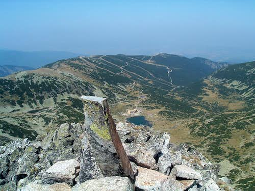 View from Ireček (2852 m) to the north.