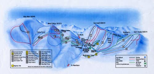 Ski Routes round The Cairnwell