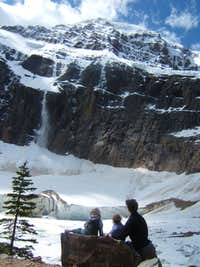 Watching Avalanches on Mt. Edith Cavell - Jasper