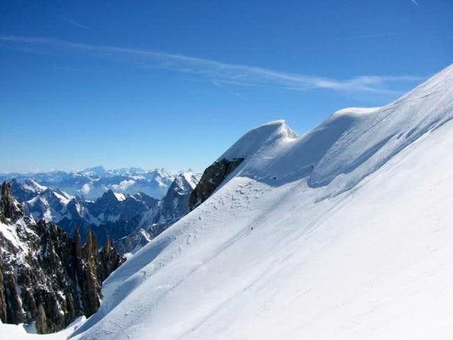 The Mont Maudit ridge