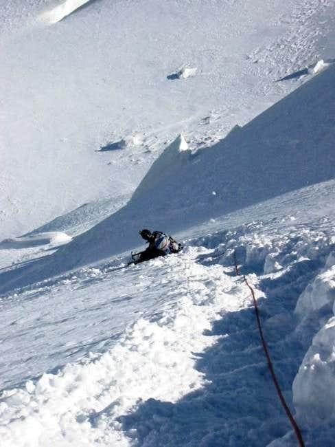 Mont Maudit is quite steep.