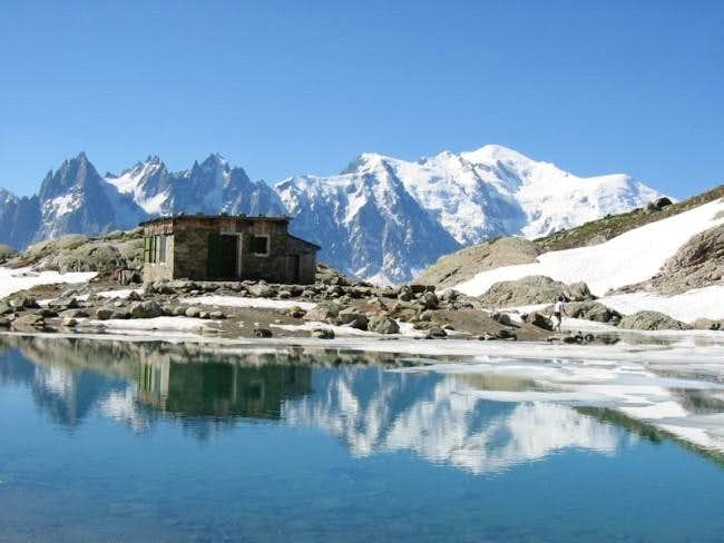 Mont Blanc seen from Lac Blanc