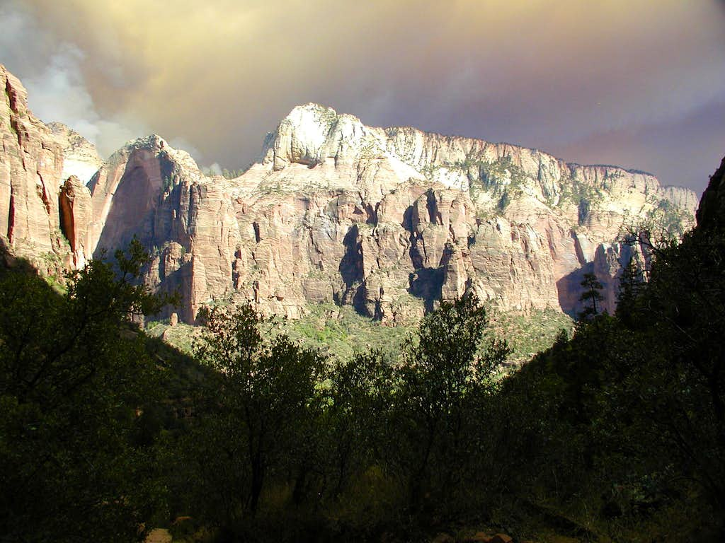 Fire in Zion National Park
