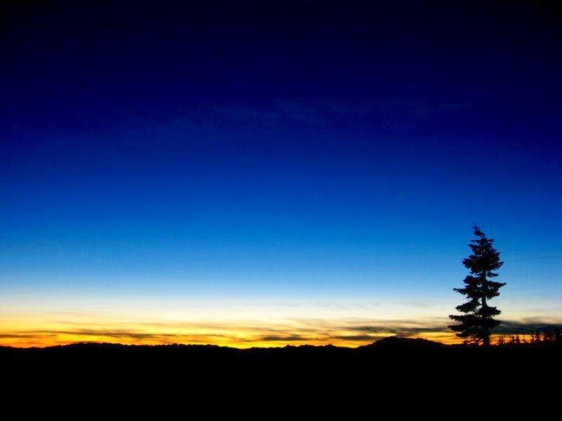 shasta sunset