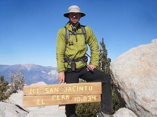 Travis on San Jacinto Peak