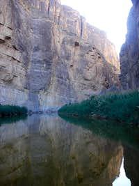 Canyon walls reflection