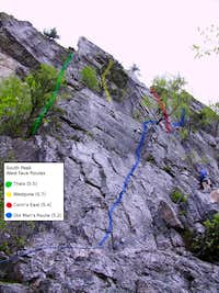 Routes Starting from Old Man's Route