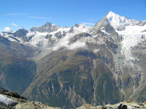 Zinal Rothorn and Weisshorn