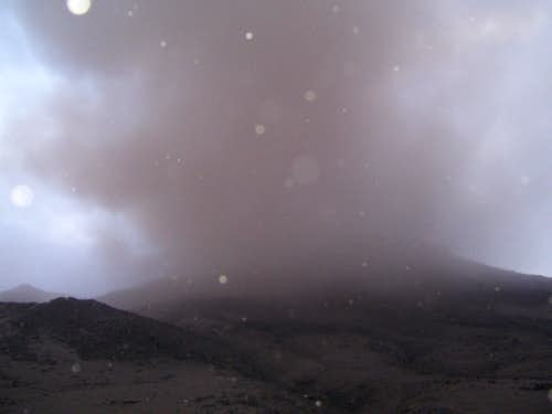 Close up view of eruption