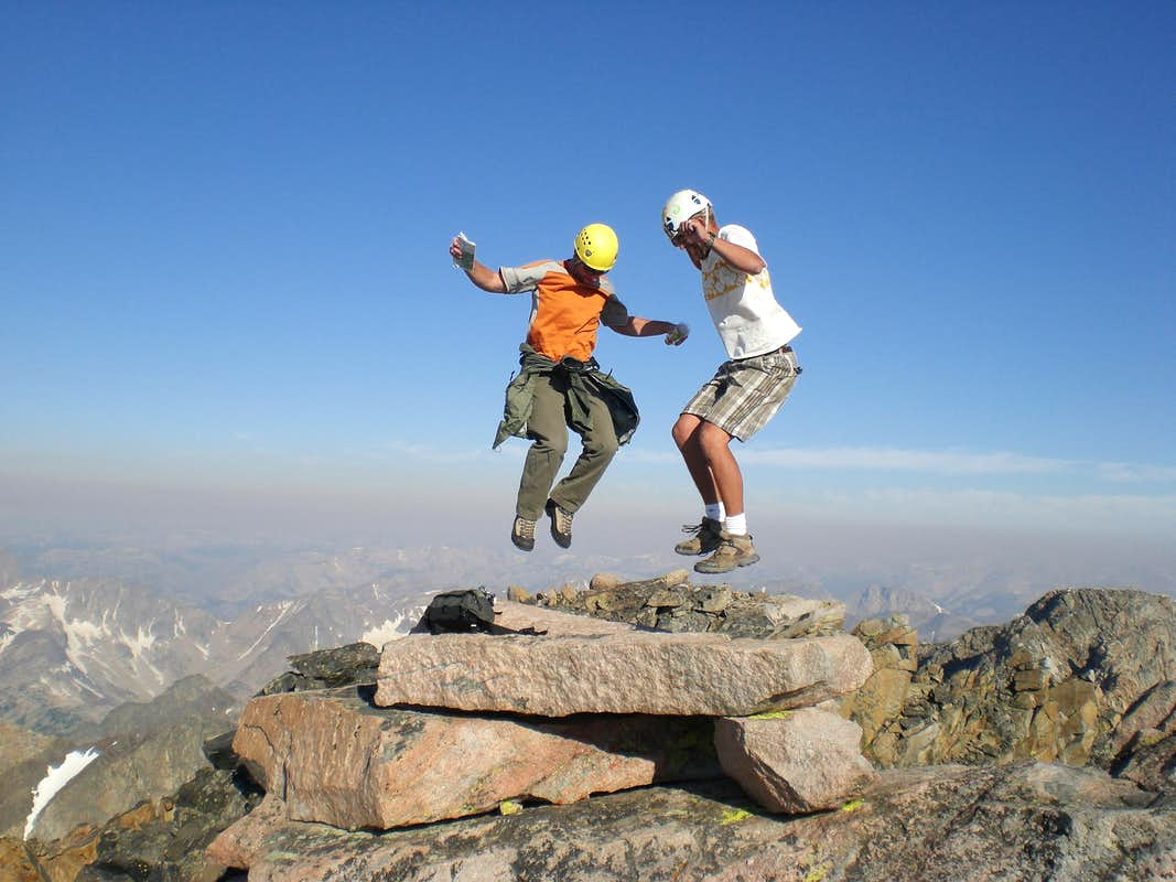 Jumpn up to 12,800ft on Granite Peak, MT