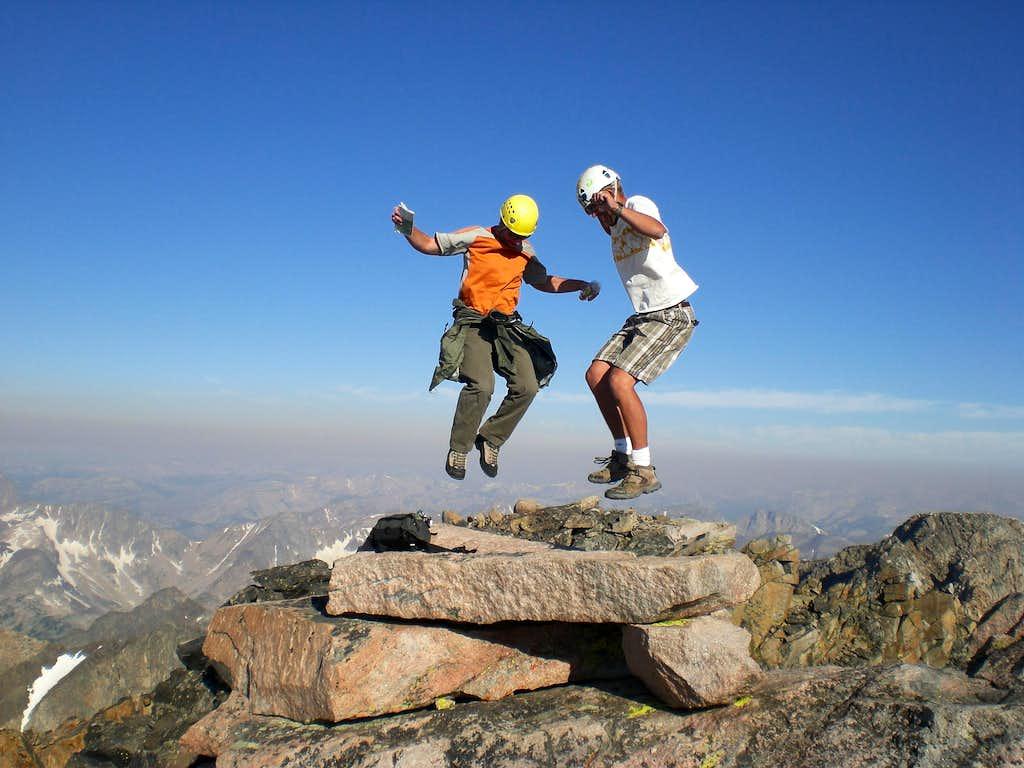 Jumpn up to 12,800ft on Granite Peak, MT