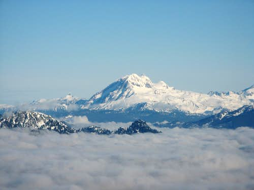 Garibaldi over clouds