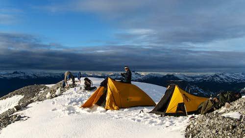 Camp at top of Brohms ridge
