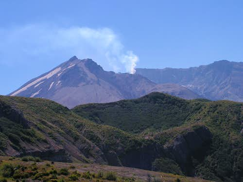 Smoking Mt. St. Helens
