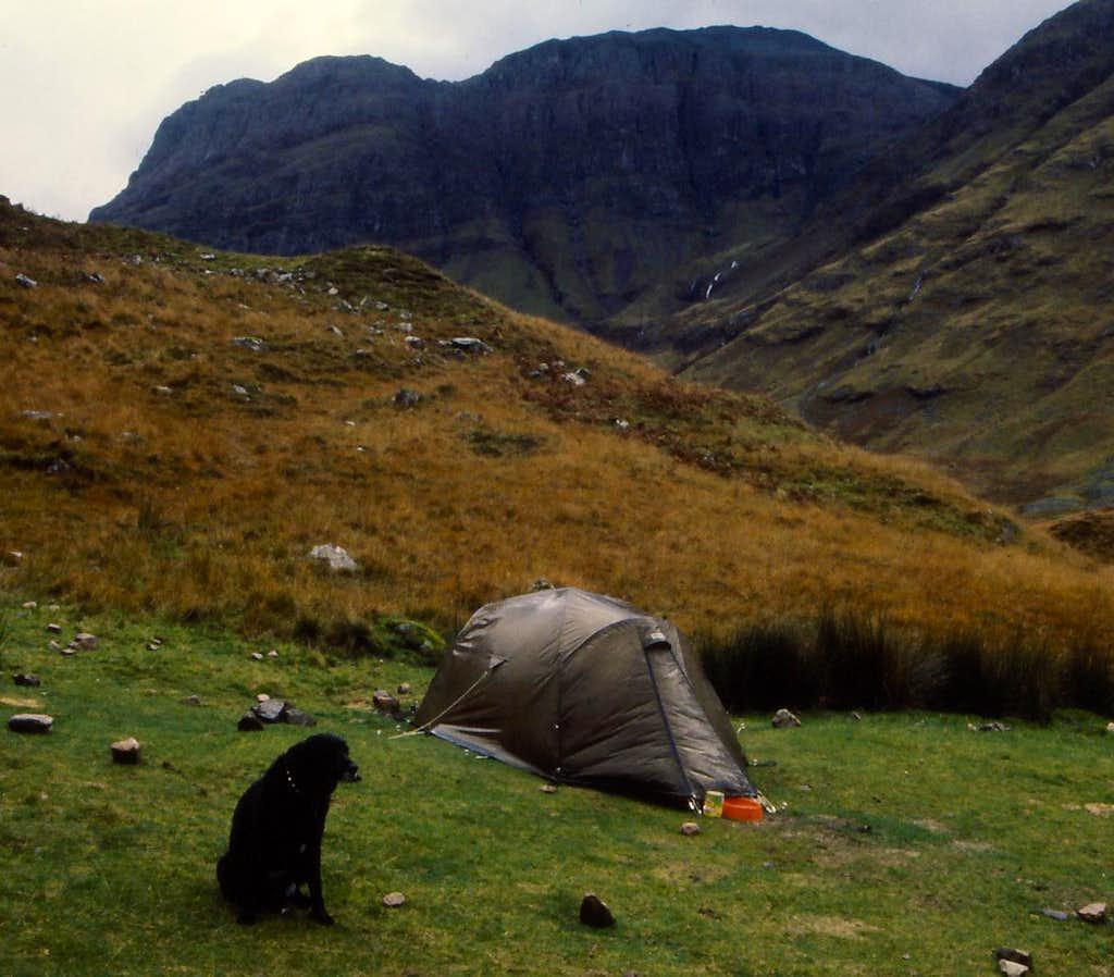 Wild camping in Glen Coe
