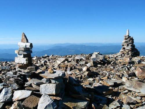 The cairned summit of...