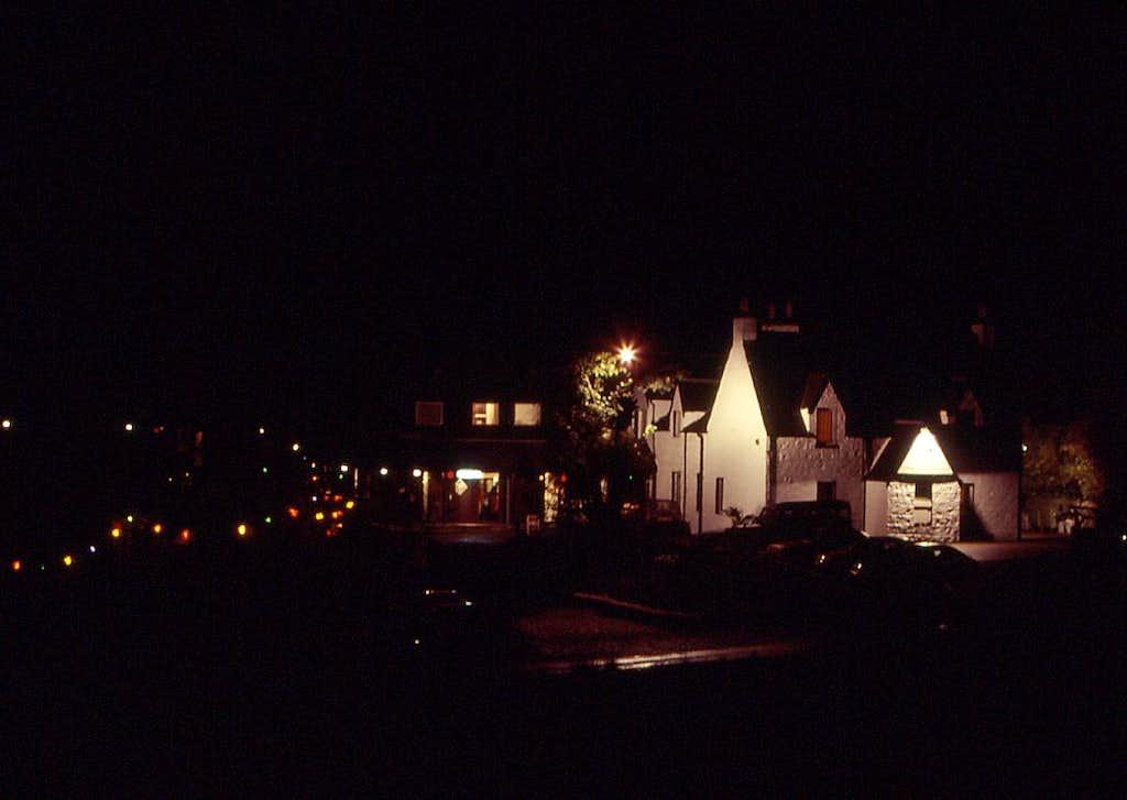 Clachaig Inn by night