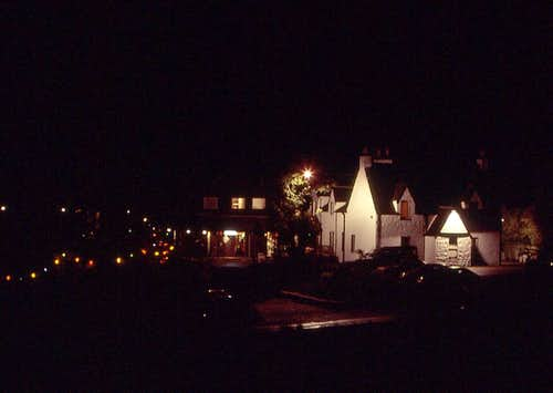 Clachaig Inn by night