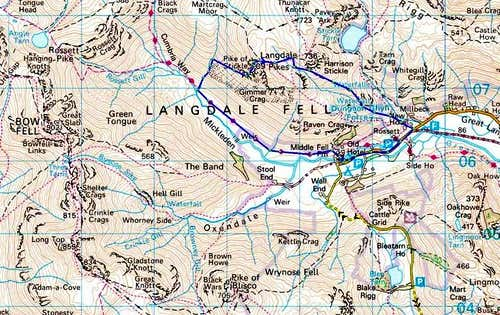 Pike O\'Stickle Route