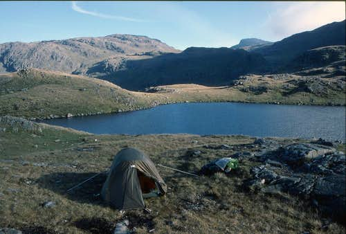 Tent by Sprinkling Tarn