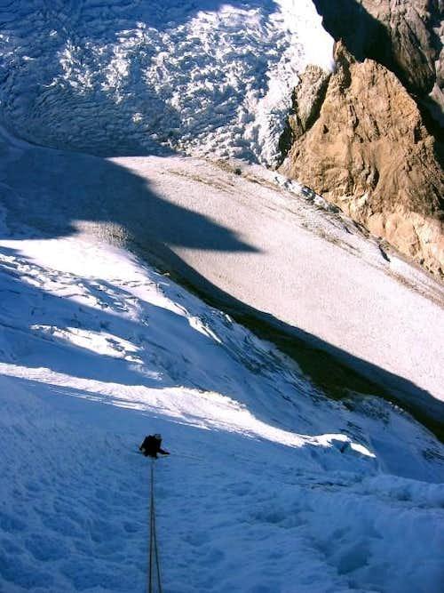 Artesonraju south east face descent