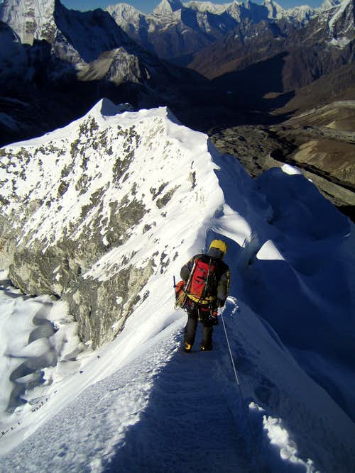Island Peak ridge