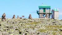 The summit lookout. (August...