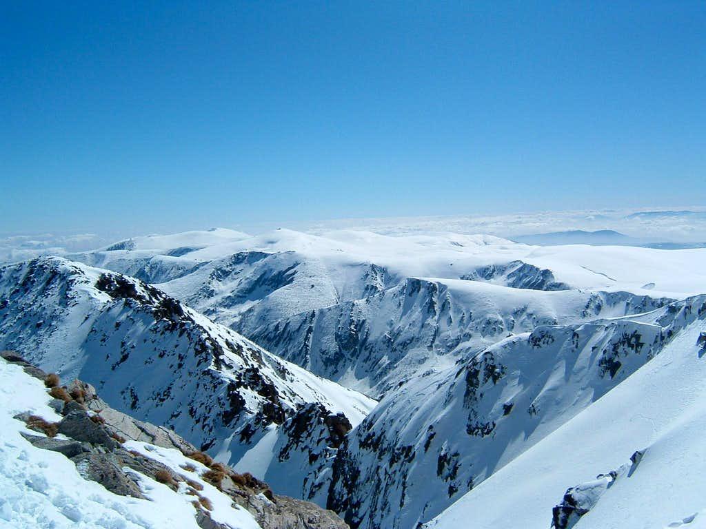 View from Musala peak