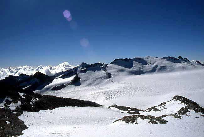 Lobbia Alta and Monte Fumo seen from Punta del Venerocolo.