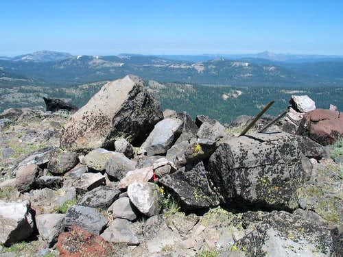 Summit cairn and register