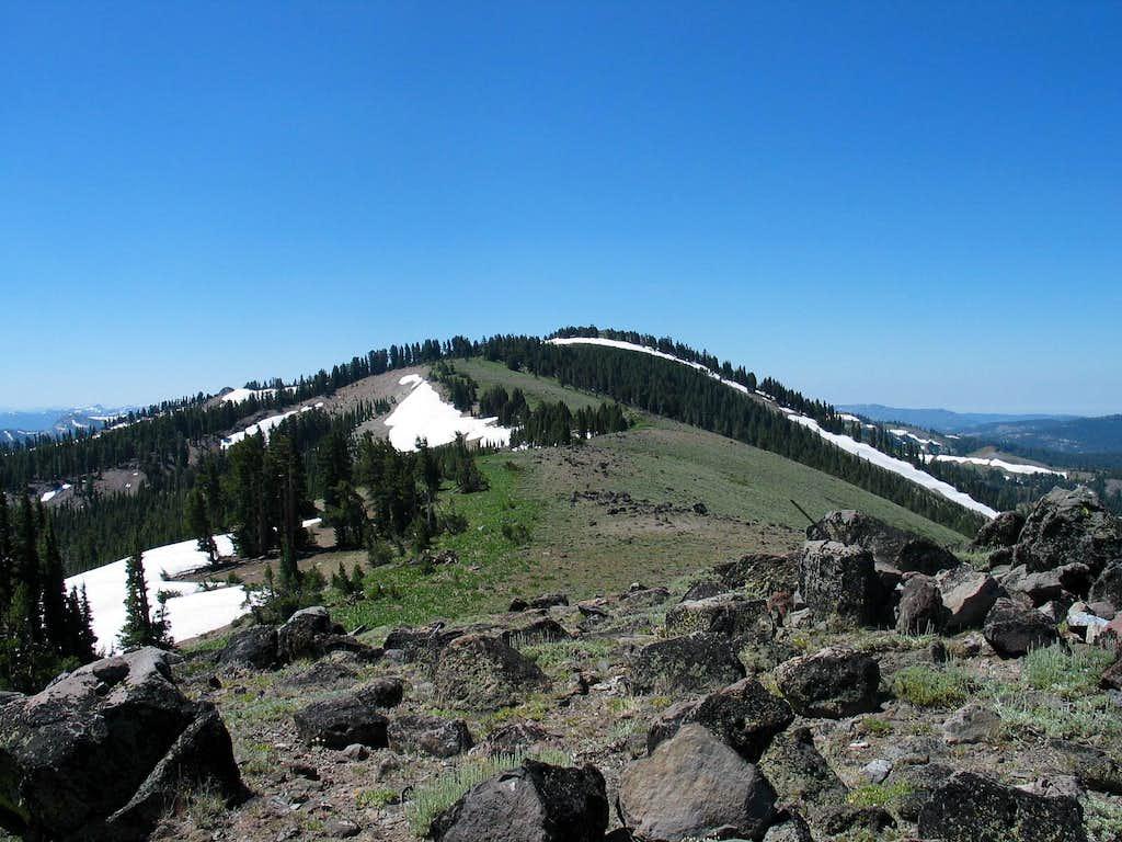 Looking back at  Mt. Lola