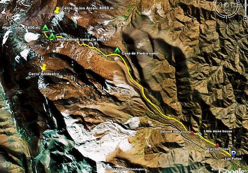Route to Cachi high camp