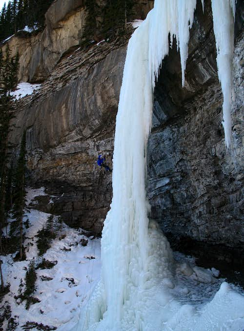 Rapping a Wild Pitch of Ice - Grande Cache