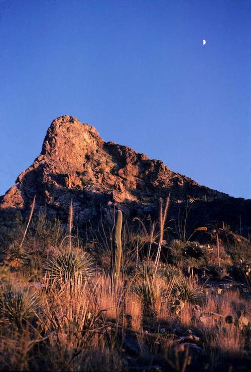 The Moon above the Eastern Edge of Pima Canyon