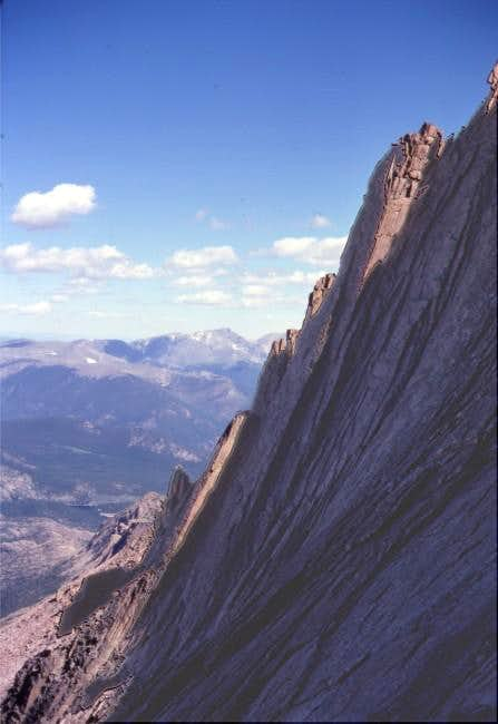 West face of Longs from the...